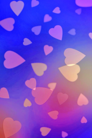 Hearts Purple Blue Love IPhone Wallpaper Mobile Wallpaper
