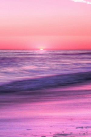 Sunrise Sea Beach Sky Pink Evening Nature IPhone Wallpaper Mobile Wallpaper