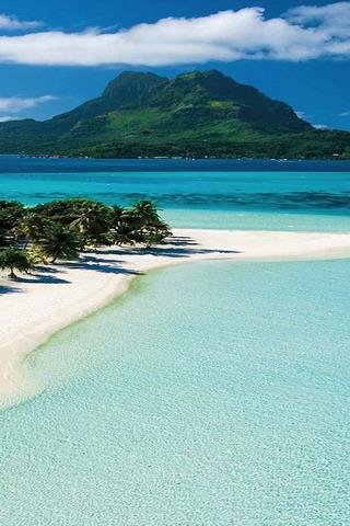 Bora Bora Blue Beautiful Nature IPhone Wallpaper Mobile Wallpaper