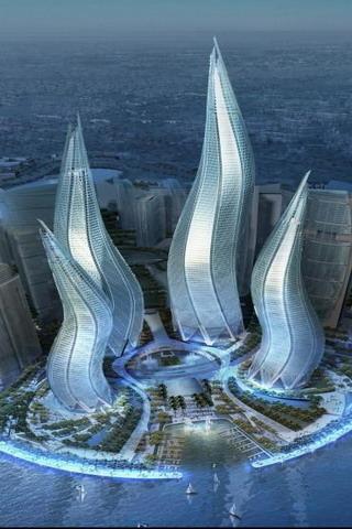 Dubai Towers Asia UAE IPhone Wallpaper Mobile Wallpaper
