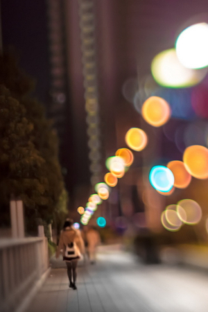 City Lights Colors Bokeh IPhone Wallpaper Mobile Wallpaper