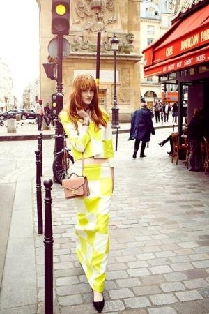 Model Yellow Dress On Road Beauty Mobile Wallpaper
