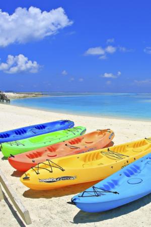 Maldives Beach Corner Colors Boat IPhone Wallpaper Mobile Wallpaper
