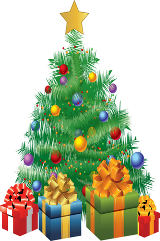 Christmas Tree & Gifts IPhone Wallpaper Mobile Wallpaper