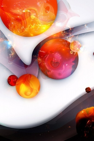 Woow Abstract 3D Circle Design IPhone Wallpaper Mobile Wallpaper