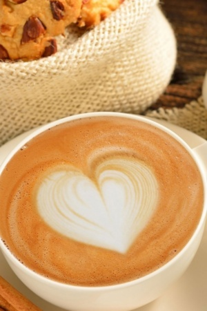 Heart Coffee Cappucino Android Wallpaper Mobile Wallpaper