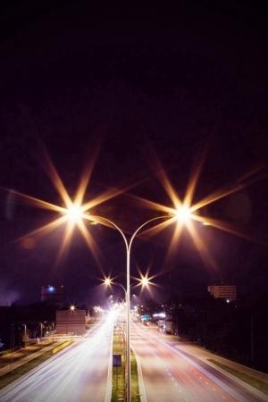 Night Street Road Lights Beauty IPhone Wallpaper Mobile Wallpaper