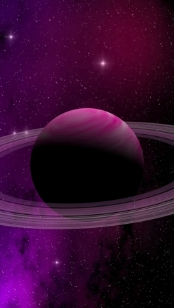 Download Planet Purple Space Abstract Art Iphone Wallpaper