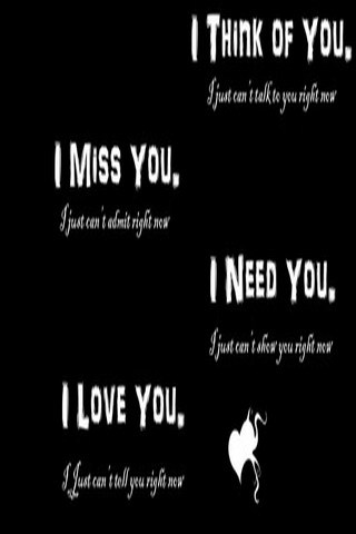 I Need You And I Miss You IPhone Wallpaper Mobile Wallpaper