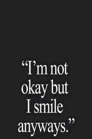 Not Okau But I Smile IPhone Wallpaper Mobile Wallpaper