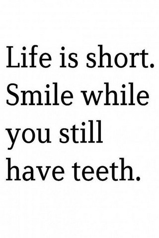 Life Is Short Smile Please IPhone Wallpaper Mobile Wallpaper