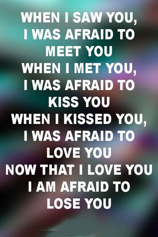 I Was Afraid To Love You IPhone Wallpaper Mobile Wallpaper