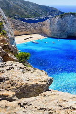 Beautiful Island Blue Sea IPhone Wallpaper Mobile Wallpaper