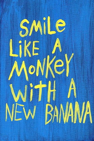 Smile Like A Monkey IPhone Wallpaper Mobile Wallpaper