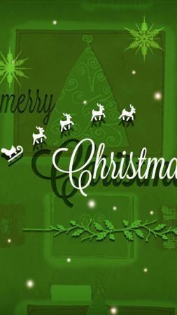 Santa Green Christmas IPhone Wallpapers Mobile Wallpaper