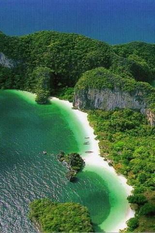 Beautiful Greeny Island Nature Mobile Wallpaper