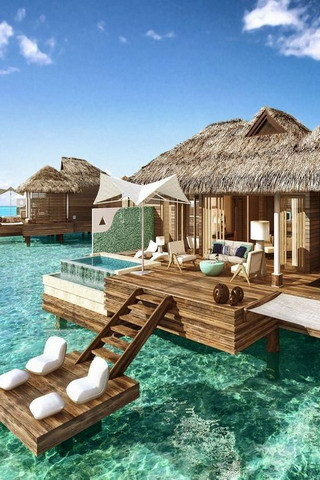Beach Luxury Houses In Nature Beauty Mobile Wallpaper