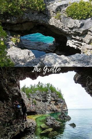 Rocks Grotto View Of Sea Nature Mobile Wallpaper