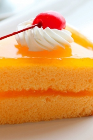 Yummy Mango Cake Sweets Mobile Wallpaper