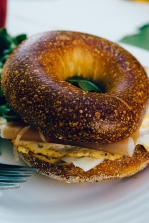 Egg Breakfast Forl Bagel IPhone Wallpaper Mobile Wallpaper