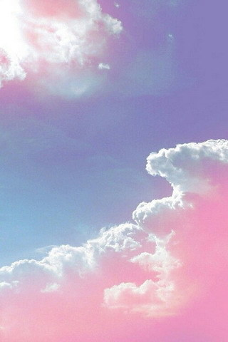 Pink Clouds Nature Beauty Sun IPhone Wallpaper Mobile Wallpaper
