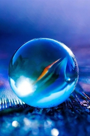 Blue Big Ball Glass Free IPhone Wallpaper Mobile Wallpaper