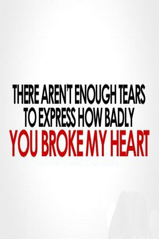 You Broke My Heart IPhone Wallpaper Mobile Wallpaper