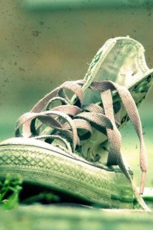 Sneaker Shoes Joger On Road IPhone Wallpaper Mobile Wallpaper