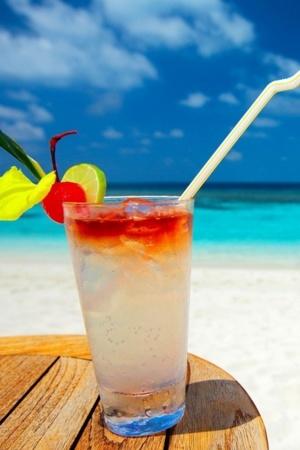 Paradise Tropical Cocktail IPhone Wallpaper Mobile Wallpaper
