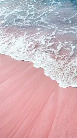 Pink Waves Nature Sea Beauty Mobile Wallpaper