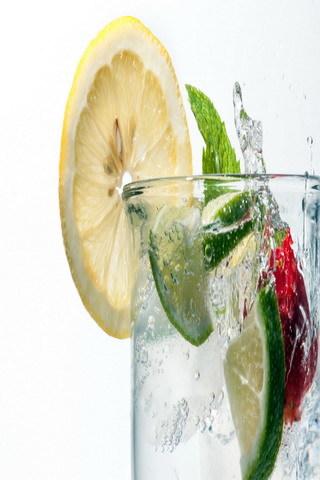 Lemon Fresh Juice Glass IPhone Wallpaper Mobile Wallpaper