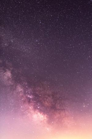 Purple Sky Shine Start Milky Way Space IPhone Wallpaper Mobile Wallpaper