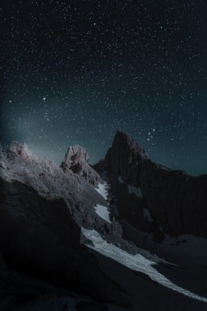Dark Sky Nights And Mountains IPhone Wallpaper Mobile Wallpaper