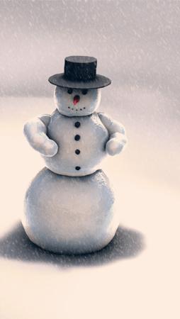 Snow Man IPhone Wallpaper Mobile Wallpaper