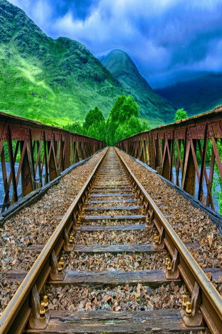 Train Track And Mountain IPhone Wallpaper Mobile Wallpaper