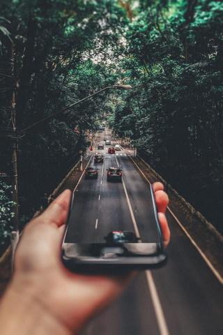 Lovely 3D Cars Mobile Effect And Garden IPhone Wallpaper Mobile Wallpaper