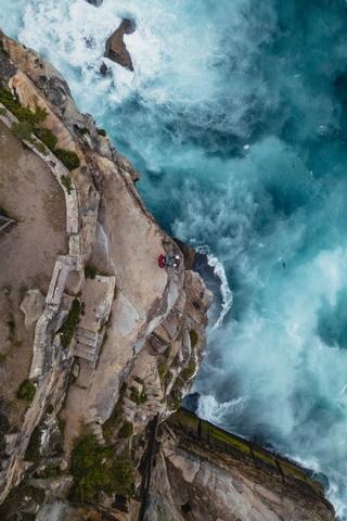 Top View Water Waves Sea IPhone Wallpaper Mobile Wallpaper