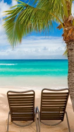 Paradise Beaches Chair IPhone Wallpaper Mobile Wallpaper