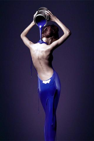 IPhone Blue Lady Wallpaper Mobile Wallpaper