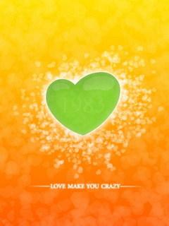Crazy Love Heart Mobile Wallpaper