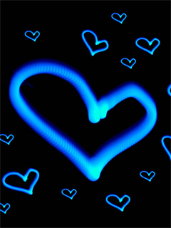 Blue Heart Wallpaper Mobile Wallpaper