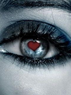 Heart Eye Wallpaper Mobile Wallpaper