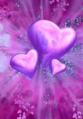 Purple Heart 3 Mobile Wallpaper