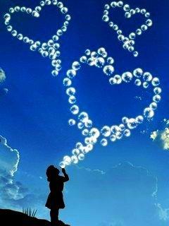Ballons Hearts Mobile Wallpaper