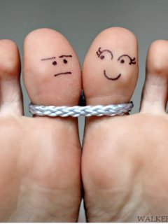 Funny Love Fingers Mobile Wallpaper