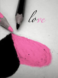 Black N Pink Love Mobile Wallpaper
