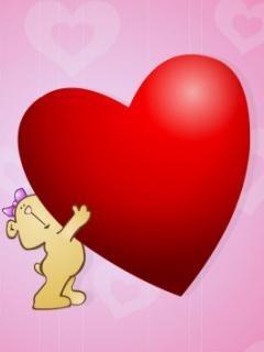 Heart On Hand Mobile Wallpaper