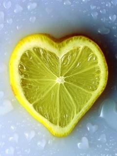 Lemon Heart Mobile Wallpaper