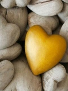 Yellow Heart Mobile Wallpaper