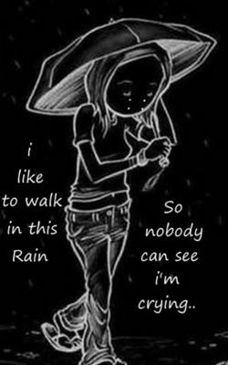 Girl In Rain  Mobile Wallpaper